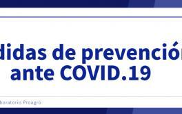 Medidas preventivas en Laboratorio Proagro ante COVID-19